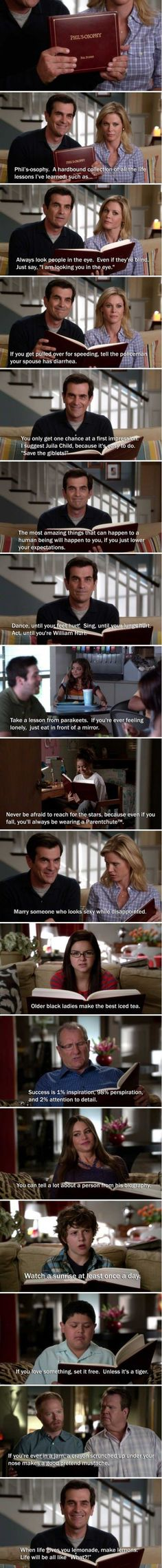 Phil's-osophy. Modern Family. Best show ever.