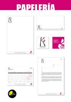 Papereria dissenyada per a Mayka López complementos.   Papelería diseñada para Mayka López complementos.