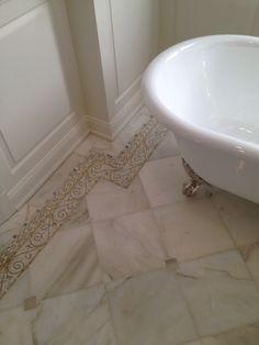 beautiful #bathroom #design using #allstone Calacatta Oliva #marble #interiordesign