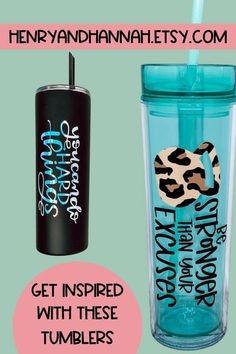 Head to that soccer game in style with a tumbler that has your favorite motivational quote on it. Remind yourself that you can do hard things and that you're stronger than your excuses.