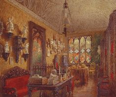 Gothic Study of the Yussupov Palace on the Moika as it was painted in 1853.