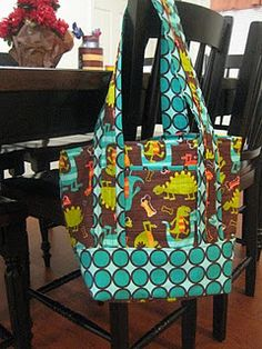 """Diaper bag tutorial - With different material, this could be a cute """"every day"""" bag"""