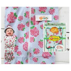 Swaddle Orange Bedong Instan Baby Flower - http://www.adorababyshop.co/jual/swaddle-orange-bedong-instan-baby-flower/