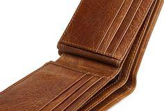 Genuine Leather Mens Wallet Cool Short Slim Bifold Wallet Card Coin Holder Wallet Purse for Mens