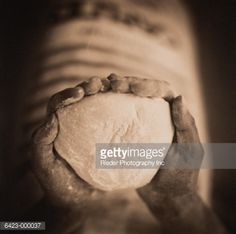 Stock Photo : Hands Holding Dough