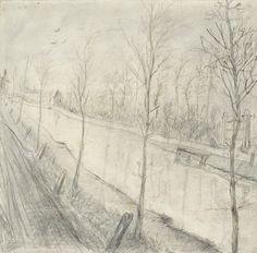 Kanaal, 1872 - 1873, Vincent van Gogh, Van Gogh Museum, Amsterdam (Vincent van Gogh Stichting)