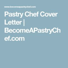 Pastry Chef Resume Objective Examples  Pastry Chef Job Help