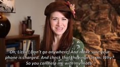I giggled so much! She's got you DOWN, Gigi! The Lizzie Bennet Diaries