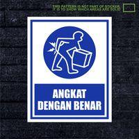WSKPC099 Sticker K3 Safety Sign Warning Sign Angka