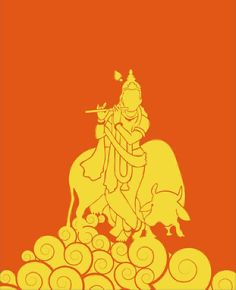 Illustration of Lord Krishna on Behance
