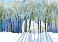 winter moon solstice cards
