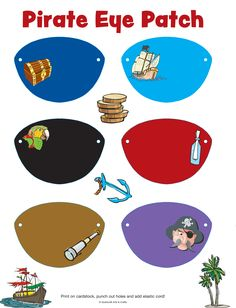 pirate craft ideas | Pirate Eye Patch Printable for International Talk Like a Pirate Day!