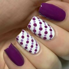 Polka dots. Purple. White. Cute.