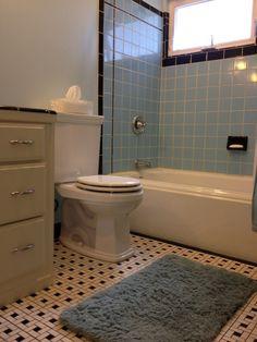 Nice Floor S Bathroom Tile Retro Bathroom Probably From - 1950s bathroom tile