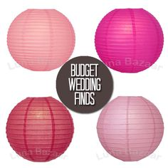 Here are different pink wedding decor options - all for a budget price!