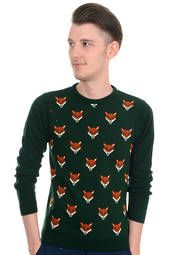 Mens Indie Hipster 70s Retro Vintage Fox Head Jumper