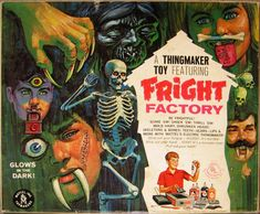 We kick off our month-long series on vintage advertising of our favorite Monster Kid toys with Mattel's Fright Factory, one of the greatest toys ever made! 1960s Toys, Retro Toys, Vintage Games, Vintage Toys, Vintage Candy, Vintage Comics, Vintage Stuff, Vintage Signs, Fright Factory