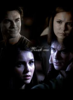 Damon and Elena - love the way he smiles at her.