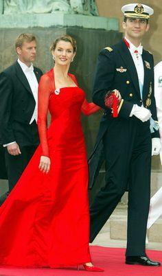 Princess Letizia and Crown Prince Felipe of Spain, los Príncipes de Asturias.