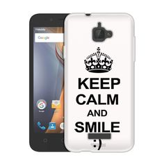 Samsung Galaxy On5 KEEP CALM and Smile on White Slim Case