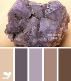 amethyst hues- living room... would go with the fire place.. means changing the color of the kitchen though..