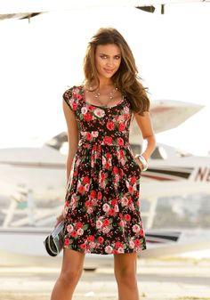 Laura Scott Jerseykleid im Online Shop von Ackermann Versand #Sommer #fashion #Mode Laura Scott, Irina Shayk, Bohemian, Casual, Shopping, Dresses, Fashion, Fashion Styles, Dress Skirt