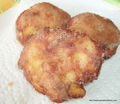 Apple Fritters ~ Gluten Free, Low Carb ~ Wheatless Buns