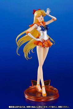 Figura Venus Sailor Pretty Guardian. Sailor Moon Crystal, 19 cm. Tamashii Nations. Figuarts Zero. Figura basada en la serie de Sailor Moon, con el personaje Venus.