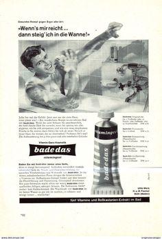 Werbung - Original-Werbung/Anzeige 1960 - BADEDAS / UHU WERK FISCHER - BÜHL - ca. 155 x 230 mm