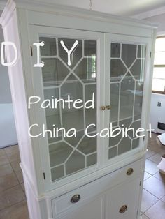 DIY Painted China Cabinet