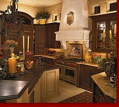 tuscan kitchen decor decorating ideas for kitchen tuscan kitchen themes. tuscan kitchen decor kitchen decor pin by on home improvement kitchen decor kitchen decorations kitchen decor. tuscan kitchen decor favorable picture of ideas. Tuscan Style Homes, Tuscan House, Style Toscan, Tuscany Kitchen, Tuscan Kitchen Decor, Tuscany Decor, Tuscany Italy, Above Kitchen Cabinets, Dark Cabinets