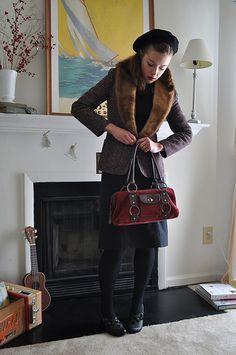 12.12.11 outfit: gallery hopping via Elegant Musings.