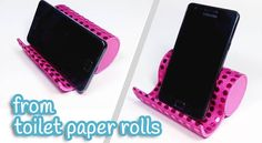 How to make a stylish mobile phone stand from a toilet roll in 10 steps