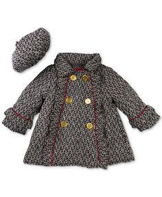 Penelope Mack Little Girls' Herringbone Hat & Jacket - 3t