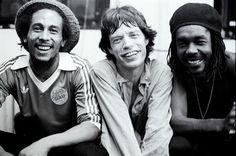 Bob Marley, Mick Jagger, Peter Tosh -NYC 1978  Michael Putland -rockandrollphotogallery.com