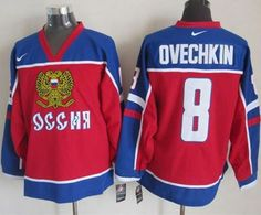"""$34.88 at """"MaryJersey""""(maryjerseyelway@gmail.com) Nike Capitals 8 Alex Ovechkin Red-Blue Stitched NHL Jersey"""
