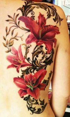 Pretty floral tattoo