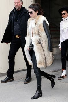 Out in Paris.Loving the shoes and pants.