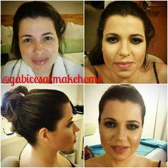 Transformação da maquiagem ao cabelo
