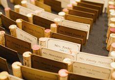 11 Ways To Turn Wine Corks Into Wedding Decor | Photo by: Amanda Watson Photography | TheKnot.com