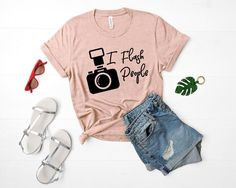 I Flash People Camera Shirt Photographer Shirt Photography Gift For Him or Her by ParkHopperSupply Tshirt Photography, Photography Gifts, People Photography, Photography Humor, Clothing Photography, Photography Projects, Toy Story Shirt, Disney World Shirts, T Shirts