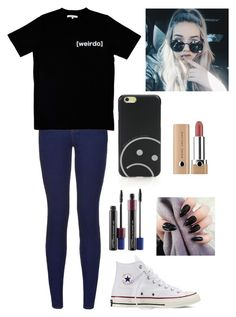 """[wierdo]"" by vivianangelica on Polyvore featuring Illustrated People, Marc by Marc Jacobs, Marc Jacobs, MAC Cosmetics and Converse"