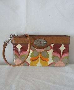 Pre-Owned Leather Floral Wristlet*******. by RamsesTreasure on Etsy