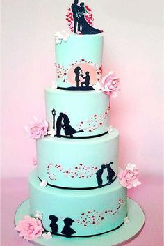 Eye-Catching Unique Wedding Cakes ❤ See more: http://www.weddingforward.com/unique-wedding-cakes/ #weddings