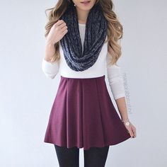 Skirt outfits for winter tights crop tops ideas Cute Casual Outfits, Outfits For Teens, Chic Outfits, Fall Outfits, Winter Skirt Outfit, Skirt Outfits, Maroon Skirt, How To Pose, Poses