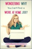 Are you wondering why you can't find a work from home job no matter how much you try? If you keep striking out, you need to take a step back and look at the big picture. There may be a specific reason that companies won't contact you back. This post helps Work From Home Moms, Make Money From Home, Way To Make Money, Make Money Online, Work From Home Opportunities, Business Opportunities, Excel Tips, Legitimate Work From Home, Budget Spreadsheet