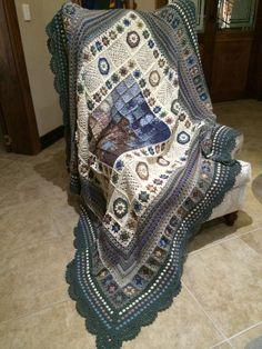 My own design afghan, inspired by Clothogancho. By Gretha Botma