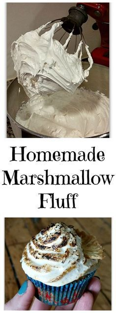 Vegan Marshmallow Fluff - This recipe can be used for frosting, whoopie pie filling, meringue, or you can eat it straight from the bowl! It's vegan, sugar-free Vegan Macarons, Vegan Cupcakes, Whoopie Pie Filling, Whoopie Pies, Recipes With Marshmallows, Homemade Marshmallows, Vegan Treats, Vegan Foods, Vegan Recipes