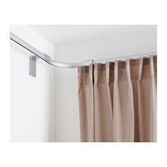 IKEA - KVARTAL, Section d'angle pour rail simple, Permet d'installer des rideaux dans les angles.