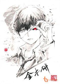 Ken Kaneki Tokyo Ghoul Credits to the artist Anime Yugioh, Anime Pokemon, Manga Anime, Ayato Kirishima, Tokyo Ghoul Fan Art, Ken Kaneki Tokyo Ghoul, Anime Quotes Tumblr, Anime Body, Drawing Tips